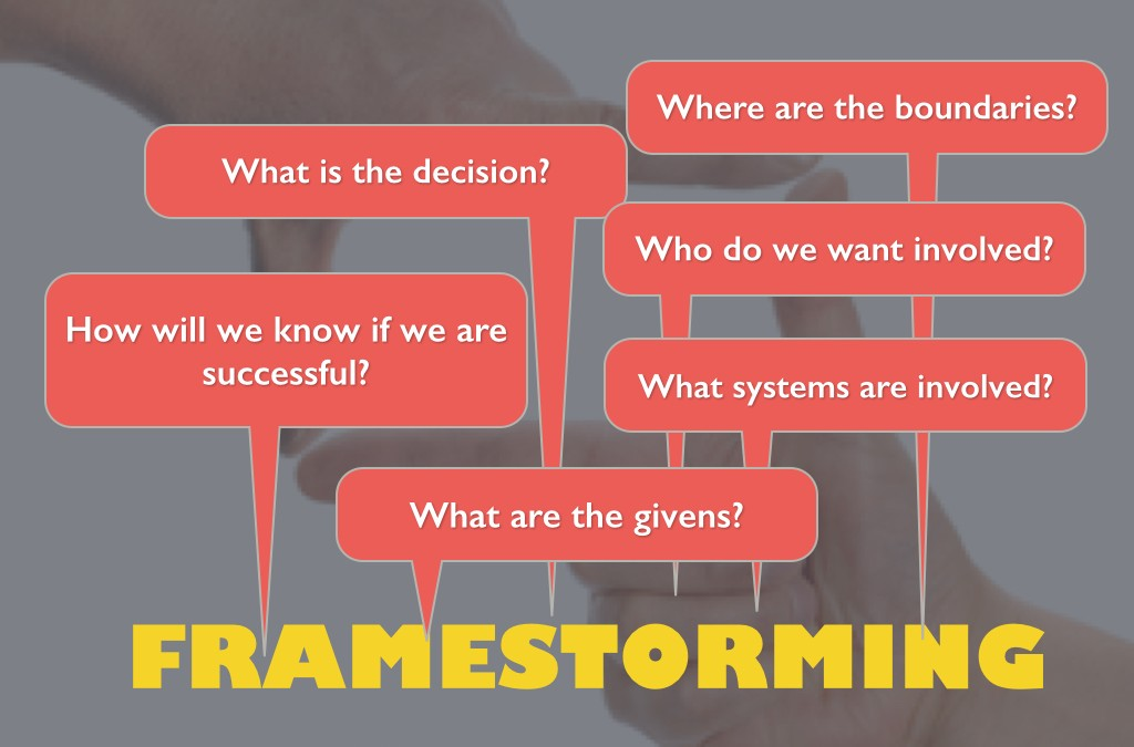 Decision Engineering 2.0: Framestorming comes before brainstorming