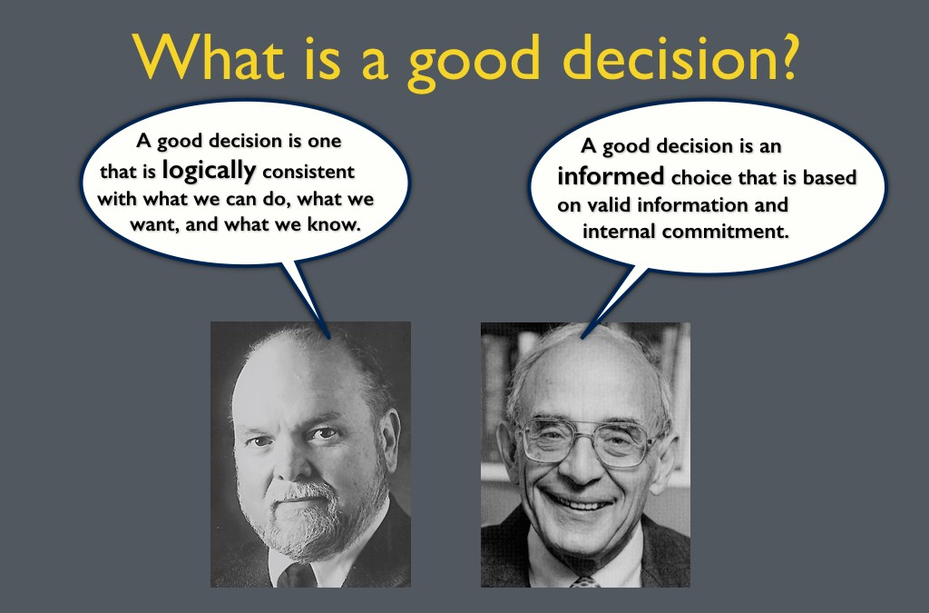 Decision Engineering 1.0: What is a good decision?