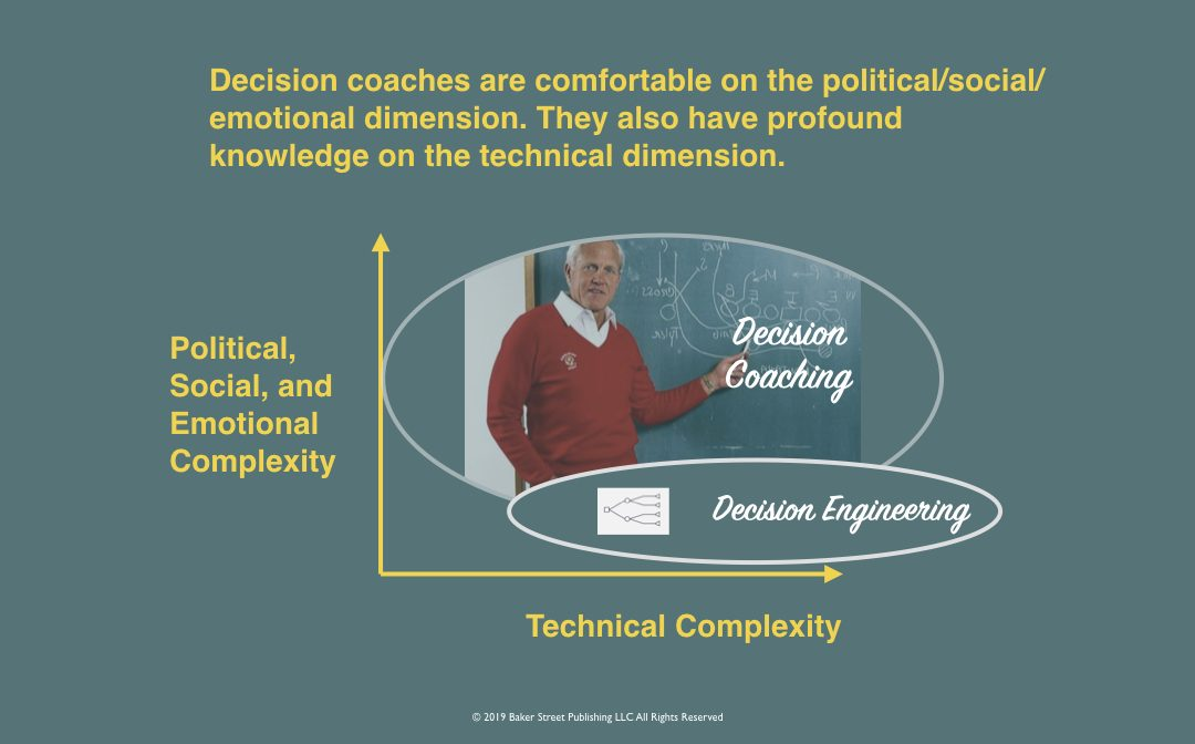 How is a decision coach different from a decision engineer?